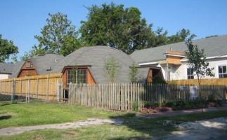 Geodesic dome homes in New Orleans.