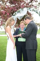 Officiant performing a marriage.