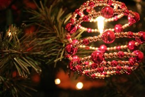 Add interest to your Christmas tree with beaded ornaments.
