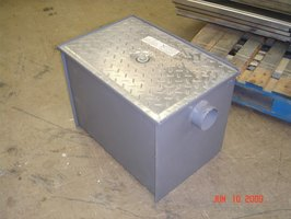 A commercial grease trap.