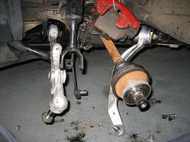 change Front Control Arms on Audi A6 Quattro