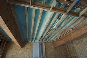 Foam insulation can be used in existing roof structures.