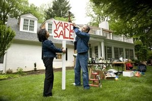 Post signs to attract customers to your yard sale.