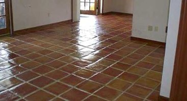 A little elbow grease and mild cleaners restore Mexican floor tiles nicely.