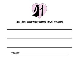 Advice cards become a lifetime keepsake for the bride and groom.