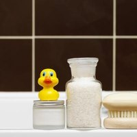 Choose an attractive, airtight container for your bath salts.