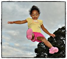 Child Jumping in the Air