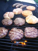 Grills are excellent for cooking burgers.