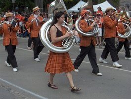 The sousaphone is used in marching bands.