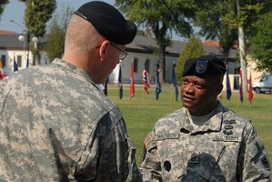 Army officers and NCOs provide leadership for soldiers.