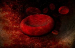 Stem cells replicate to become other types of cells, such as red blood cells.