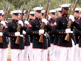 The U.S. Marines Corps are highly-trained soldiers.