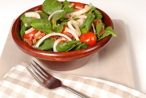 Spinach and vinegar salad