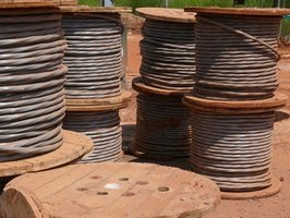 Spools of electrical cable.