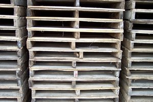 Wooden pallets are easily made.