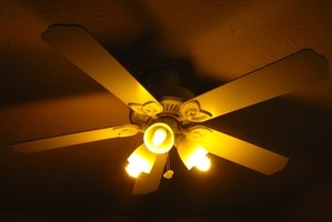 Ceiling fans circulate the air in a room