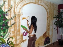 The projection methodd is helpful in enlarging art for murals.