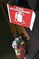 Fire regulations stipulate the number and quantity of fire extinguishers needed in buildings.