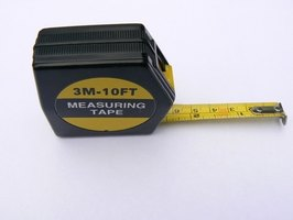 A 30-foot tape measure is helpful if you are measuring alone.