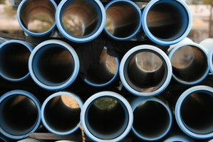 Pipes in an array act as a leach field.