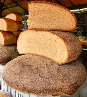 Whole-grain bread is a good source of healthy carbohydrates.