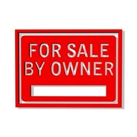 """For Sale by Owner"" signs usually include a telephone number."