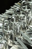 Sterling silver is used to create flatware and silverware.