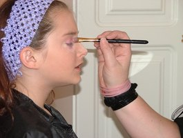 "Have your makeup done by a blindfolded friend in ""Blind Makeover."""