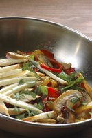If food sticks to a stainless steel frying pan while cooking, lower the heat.