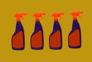 Many commercial cleaning products contain dangerous chemicals.