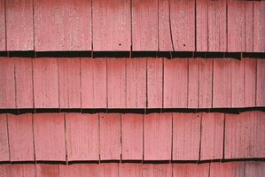 Exterior wood siding can be stained.