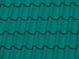 Metal roof designed to resemble clay tiles