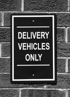 Reserved for delivery drivers