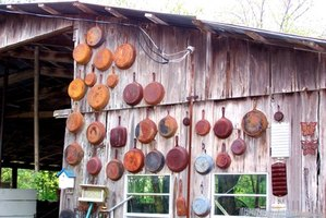 Old cast-iron skillets