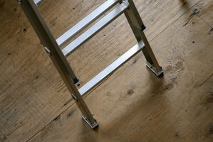 Set extension ladders directly on the floor instead of on a drop cloth.