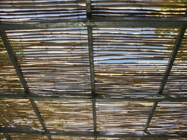 Lattice can be used for screened porch roof panels.
