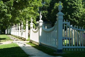 White PVC fencing is a popular choice for homeowners.