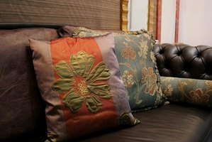 Mix pillows in different patterns for a trendy look.