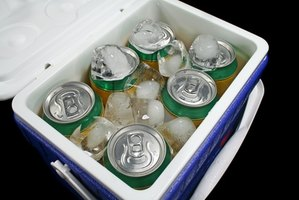 Food can be placed in a cooler while the freezer is defrosting.