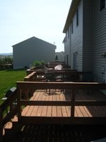 Deck flooring can be made from a variety of woods as well as synthetic materials.