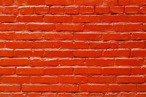 Paint brick walls to add a splash of color to your property.