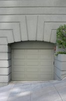 Paint a fiberglass garage door to complement your home or property.