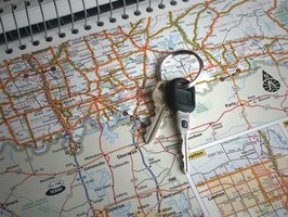 Determine the mileage between cities before you travel.