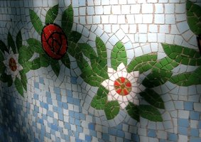 Mosaic tiles often are mounted in sheets.