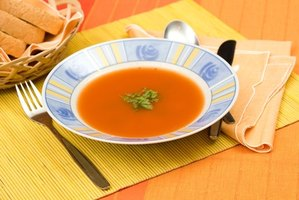 Make tomato and macaroni soup to enjoy during the cold winter months.