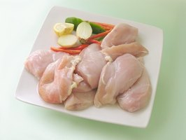 Chicken breasts are high in protein and low in fat.
