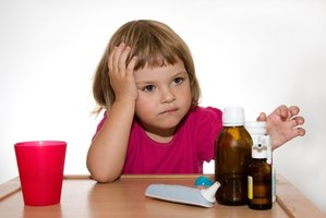 Vomiting and diarrhea in children may cause dehydration.
