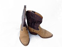 Felt shoe covers are an inexpensive alternative to real cowboy boots.