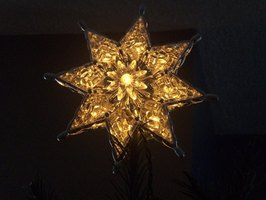 Create a Moravian star from poster board.