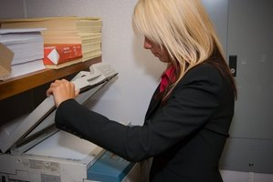 Photocopier upkeep requires the skills of a copier technican.